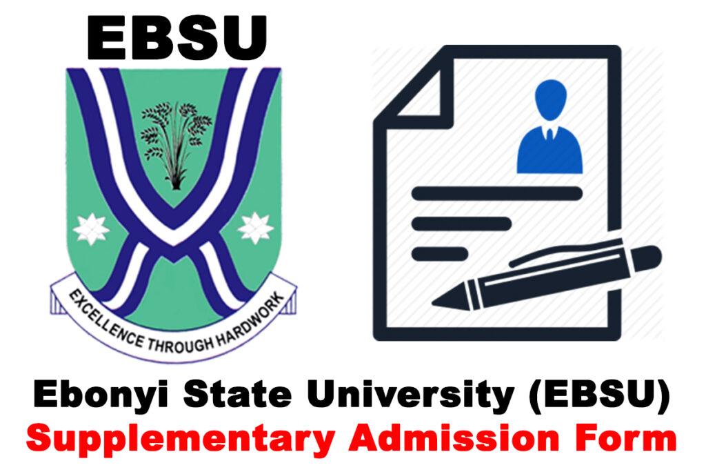 Ebonyi State Universit (EBSU) Supplementary Admission Form for 2019/2020 Academic Session