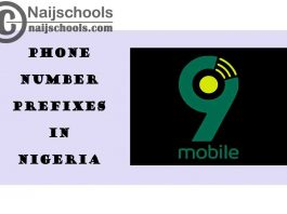 Complete List of All the 9mobile (Etisalat) Phone Number (Telephone) Prefixes in Nigeria 2021