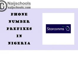 Complete List of All the Starcomms Phone Number (Telephone) Prefixes in Nigeria 2021