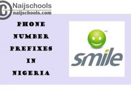 Complete List of All the Smile Phone Number (Telephone) Prefixes in Nigeria 2021