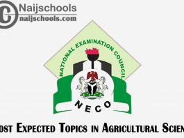 Most Expected Topics in 2021 NECO Agricultural Science SSCE & GCE | CHECK NOW