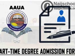 Adekunle Ajasin University Akungba-Akoko (AAUA) Part-Time Undergraduate Degree Admission Form for 2021/2022 Academic Session | APPLY NOW