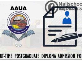 Adekunle Ajasin University Akungba-Akoko (AAUA) Part-Time Postgraduate Diploma Admission Form for 2021/2022 Academic Session | APPLY NOW